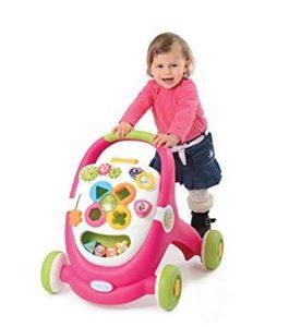 trotteur smoby pour Enfant – MultiFonction – sons et Lumières – Rose