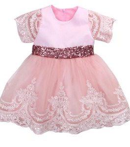 robe +couronne anniversaire 1 à 3 ans