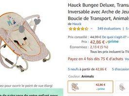 Hauck Bungee Deluxe, Transat de la Naissance à 9 kg,