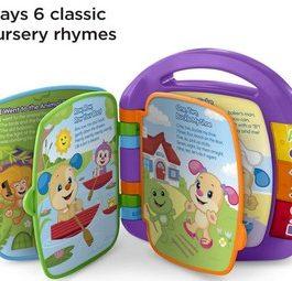 Fisher-Price Livre Interactif Comptines, Jouet Musical d'Éveil Bébé pour Apprendre en Chanson, 6 Mois et +