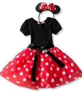 Robe avec serre tête Minnie Mouse