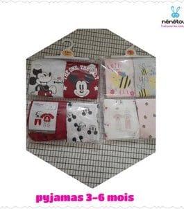2 ensembles Pyjamas (3-6 mois ) 100%coton