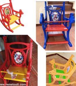 Chaise balançoire enfant, 3 coloris disponible