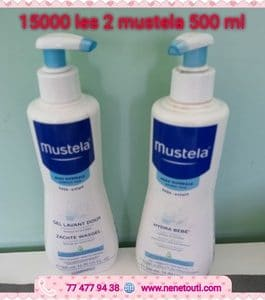 Lot Mustela Gel et Lait de corps 2x500ml