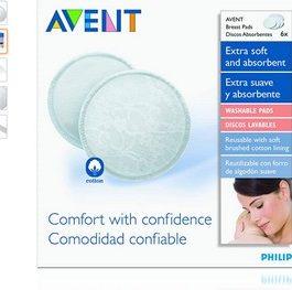 Philips Avent Lot de 6 Coussinets d'Allaitement Lavable