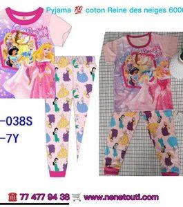 Pyjamas super héroïne 100% coton 2 à 6 ans couleurs  Fille
