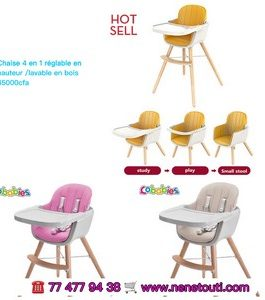 Chaise haute scandinave