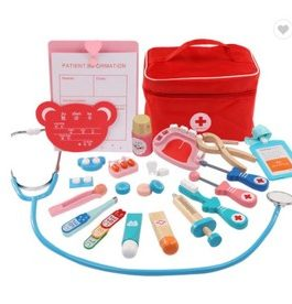 Kit medical enfant en bois, jeu de rôle Medecin/infirmière /dentiste …